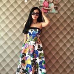 Thời trang hotgirl - đầm cúp xòa in hoa xinh giá sỉ