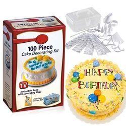 Bộ dụng cụ trang trí bánh kem 100 món - nhựa pp an toàn sức khỏe