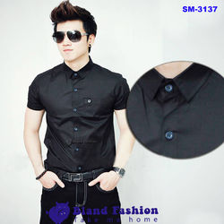 Sm-3137 áo somi nam tay ngắn bland fashion