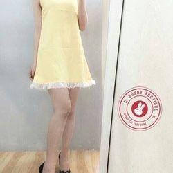 Thời trang hotgirl -  đầm suông phối chân váy xếp ly xinh