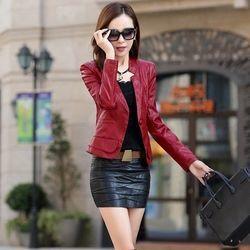 Áo vest da nữ cao cấp đỏ đô-tp704