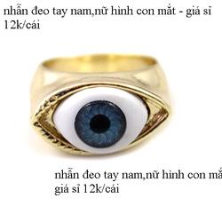 Nhẫn đeo tay nam nữ hình con mắt - sỉ 12k/cái