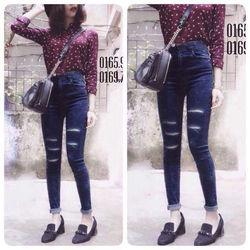 Quần jean nữ dài 2 da