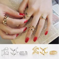 Nhẫn đeo tay nữ thời trang , kiểu dáng độc đáo, phong cách cá tính, giá sỉ 29.000đ/bộ 9 nhẫn