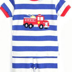 Bộ yoyo tay ngắn thêu đắp xe bbt-914a-63 bán buôn quần áo trẻ em giá sỉ