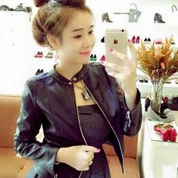 Áo khoác da nữ 2 lớp - da xịn mềm