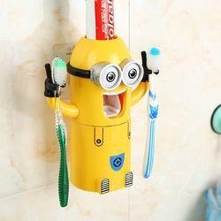 Dụng cụ lấy kem đánh răng tự động minions 2 mắt giá sỉ