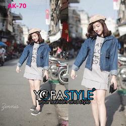 Áo khoác jean nữ yofastyle ak-70