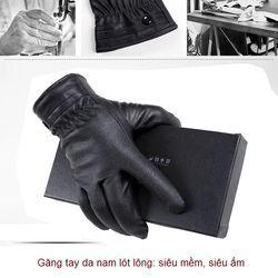 Găng tay da nam/ nữ siêu mềm lót lông  (3 mẫu)