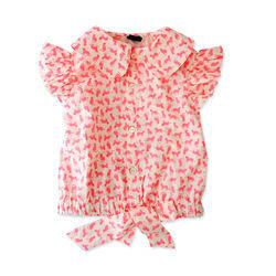 Áo sơ mi cột nơ ag-1148a-64 bán sỉ quần áo trẻ em giá sỉ
