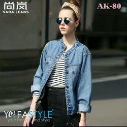 Ak-80 áo khoác nữ jean yofastyle