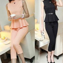Bộ sét áo peplum + quần dài - gs015