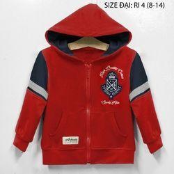 Áo khoác bé trai b2kid thêu logo