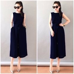 Jumpsuit ống rộng adv-634