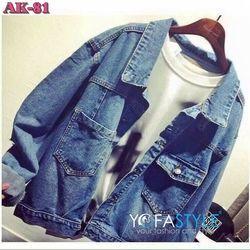 Ak-81 áo khoác nữ jean yofastyle