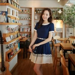Đầm xòe chân váy ren tmf-15