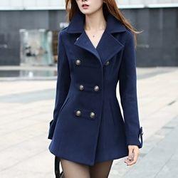 Áo khoác manto dạ nút đôi