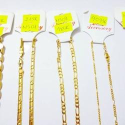 Trang sức dây chuyền xi vàng - rất bền - đeo đc 6 tháng -> 1 năm tùy mồ hôi.