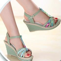 Giày đế xuồng nữ xanh chuối thời trang dx7