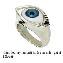 Nhẫn đeo tay nam,nữ hình con mắt - giá sỉ 12k/cái...
