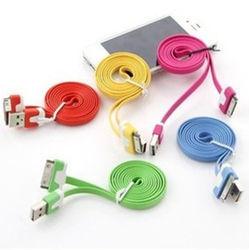 Cáp sạc dây dẹt nhiều màu dùng cho iphone 4 giá sỉ