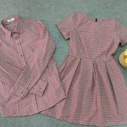 Thời trang hotgirl - set cặp áo sơ mi nam đầm nữ cực hot